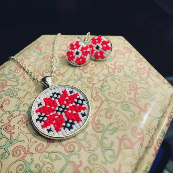 Medalion + cercei traditionali