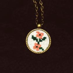 Medalion Doua Flori