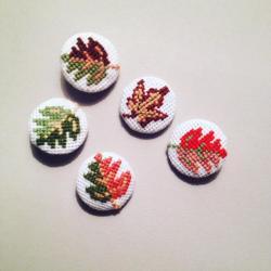 Set 5 brose frunze de toamna